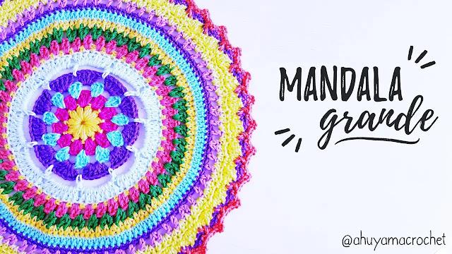 Cómo tejer un tapete redondo colorido para decorar mesas y cojines a crochet