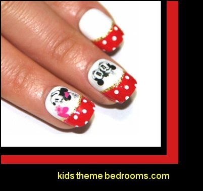mickey mouse nail stickers-minnie mouse nail decals - disney nail art