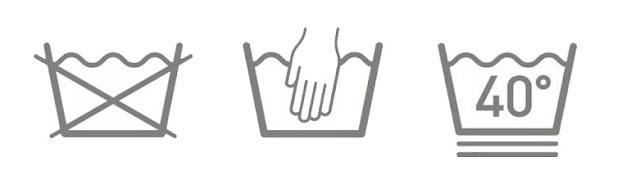 رموز الملابس ومعانيها - علامات الملابس للغسيل والتنشيف والكي