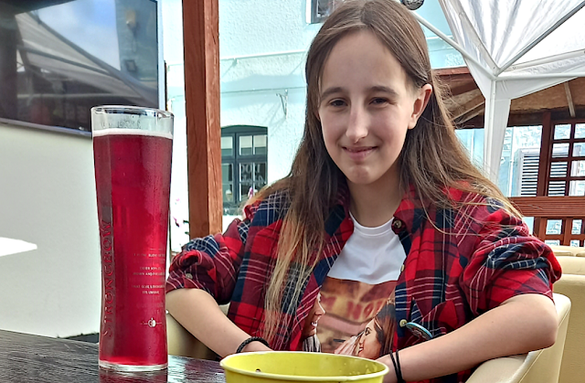My eldest at the pub