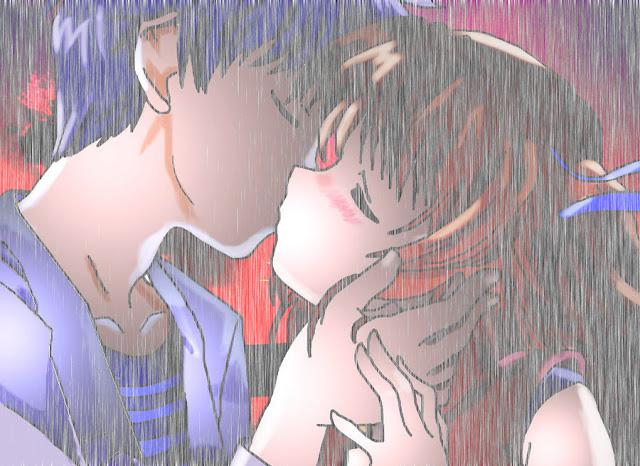 Phát sốt hình nền Anime hôn nhau khi yêu cực lãng mạn