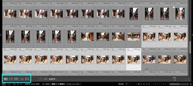 lightroom 篩選檢視(survey) 由連拍圖快速選出要的照片