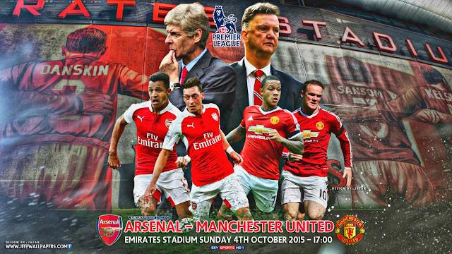 Arsenal x Manchester United - Premier League 2015-2016 - Data, Horário, TV e Local