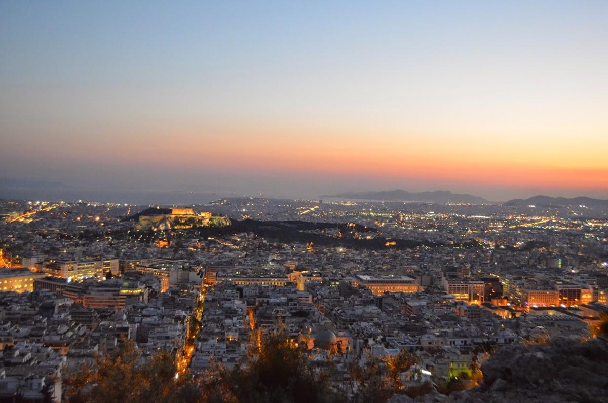 """Ateny, Athens, Αθήνα z """"lotu ptaka"""", czyli ateńskie wzgórza"""