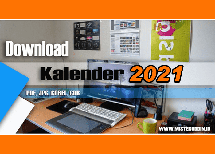 Download Kalender 2021 PDF, JPG, COREL, CDR Gratis