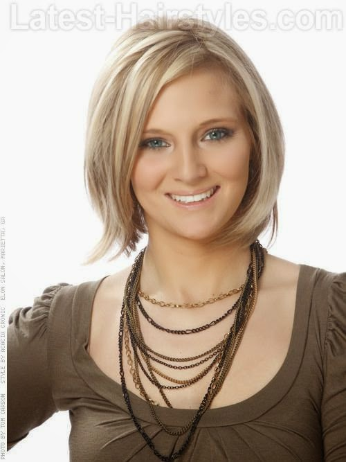Fine Hairstyle medium Hair Cuts For Women Over 50 | This soft, rounded medium length Bob hairstyle gets a a playful finish ... See more  http://www.womensandmenshairstyle.net/