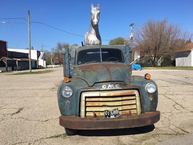 Front of 1950s GMC 350 Dump Truck