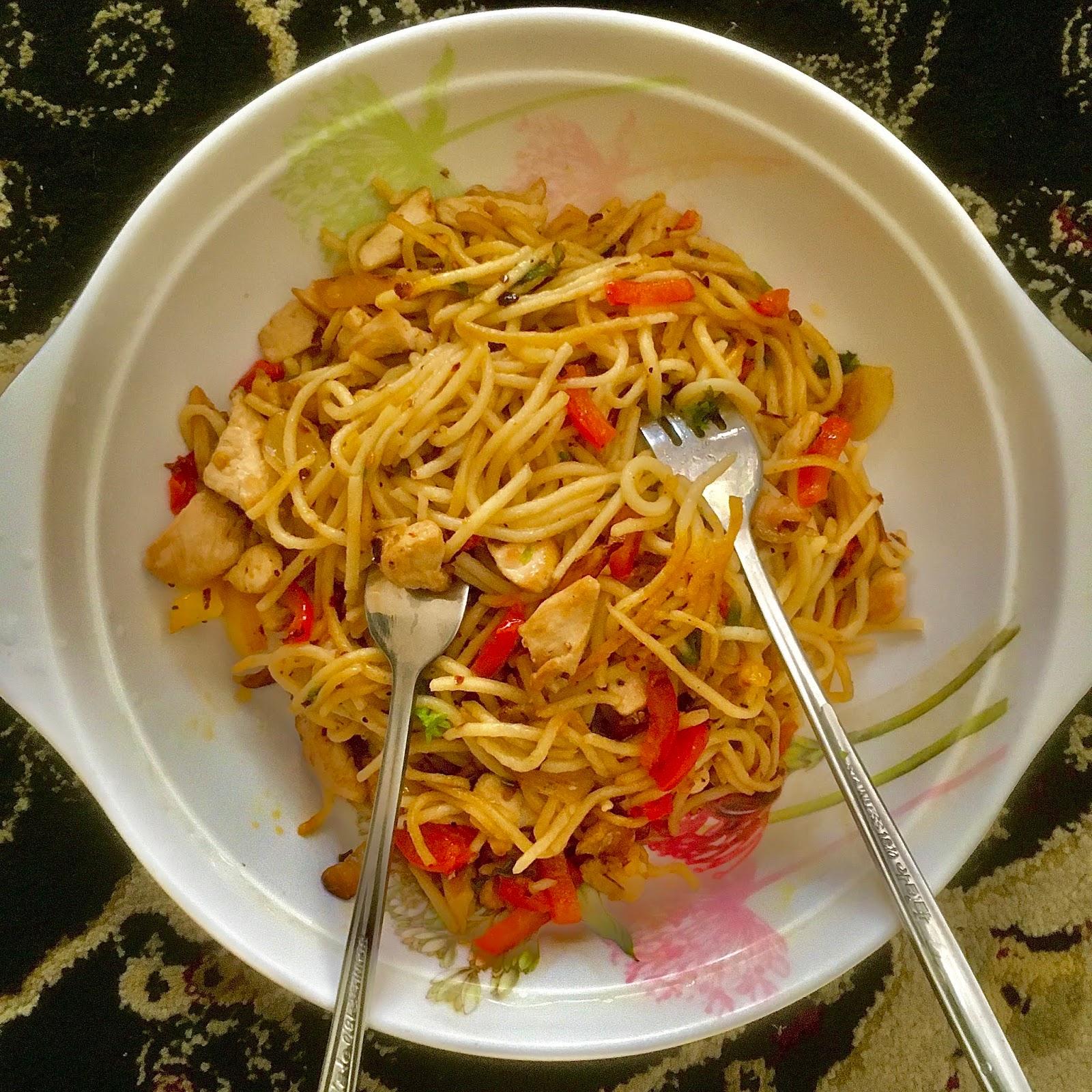 resepi aglio olio sedap mudah pewarna Resepi Pasta Angel Hair Enak dan Mudah