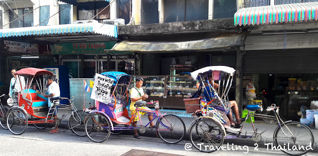 Samlors in Bangkok, Thailand