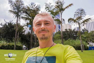 Weltreisender Arkadij Schell in Malaysia