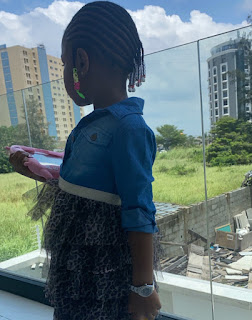 'Twinning With Imasco' - Davido Writes As He Rocks Matching Wristwatch With His Daughter, Imade (PHOTOS)
