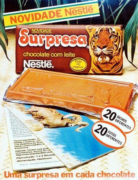Propaganda de lançamento do Chocolate Surpresa da Nestlé em 1983