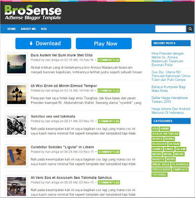 CSS Brosense versi Desktop Mywapblog Simple