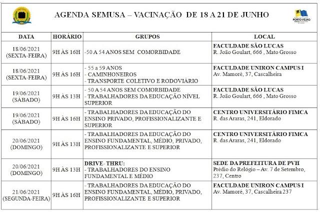 CONFIRA AQUI O CALENDÁRIO DE VACINAÇÃO ATUALIZADO: