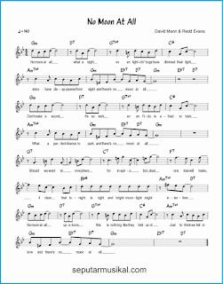 chord no moon at all lagu jazz standar