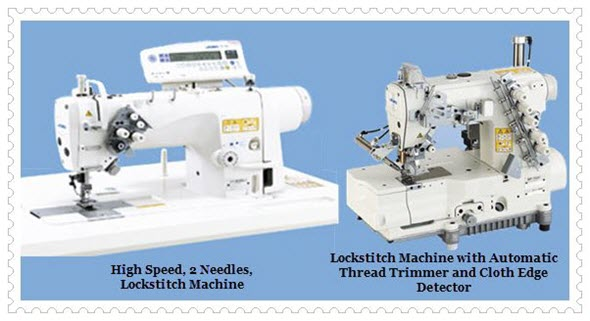 High Speed, 2 Needles, Lockstitch Machine