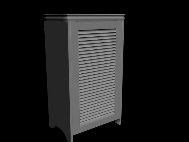 Tek Kapılı Dolap 3D Model