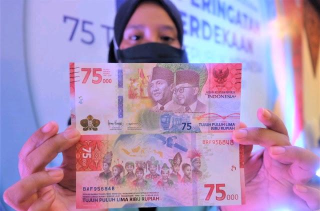 Uang Baru Pecahan Rp 75.000