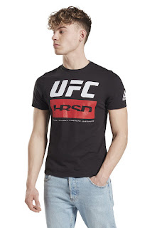 Reebok - Мъжка Тениска Ufc по тялото с лого