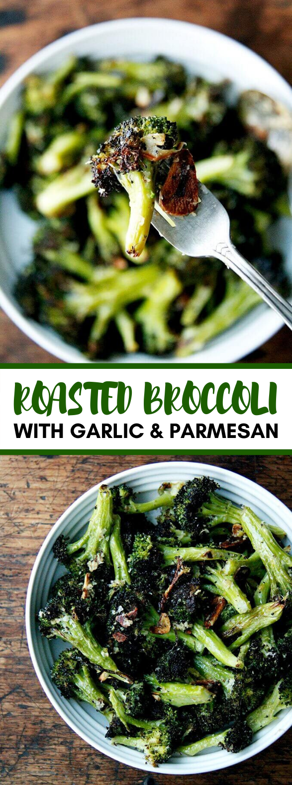 Ina Garten's Roasted Broccoli with Garlic, Lemon and Parmesan #vegetarian #vegetables