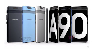 Samsung Galaxy A90 5G Front and Back Look