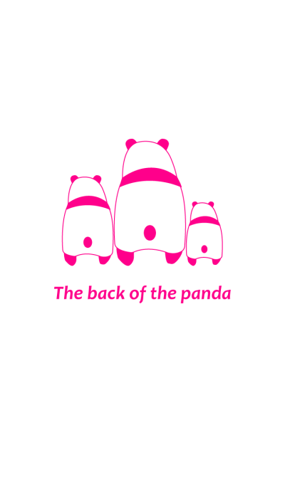 The back of panda -VIVID.P-