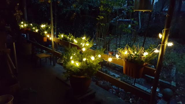 Terrassendekoration, Weihnachtsbeleuchtung, Lichterkette, 3.Advent