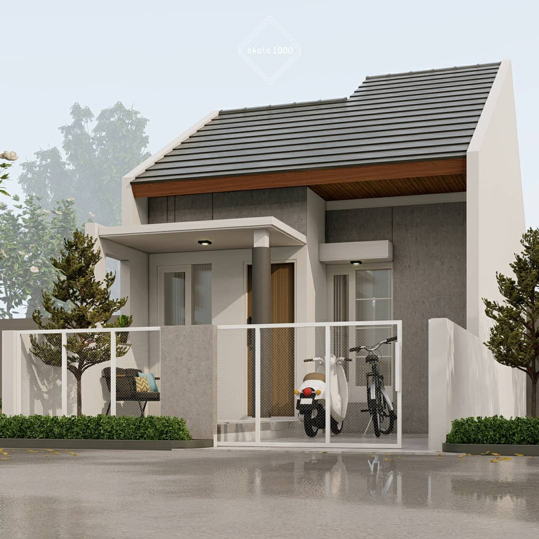 Desain Dan Denah Terbaru Rumah Minimalis Type 43 Dengan Atap