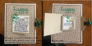 Handmade Birthday Card Animal Outing Stamp Set Flip Pull Tab Technique