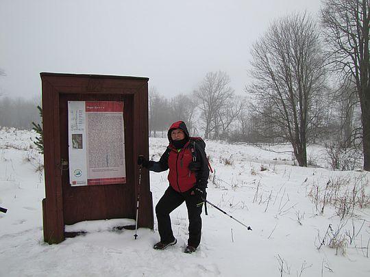 Drzwi do nieistniejącej wsi Długie.