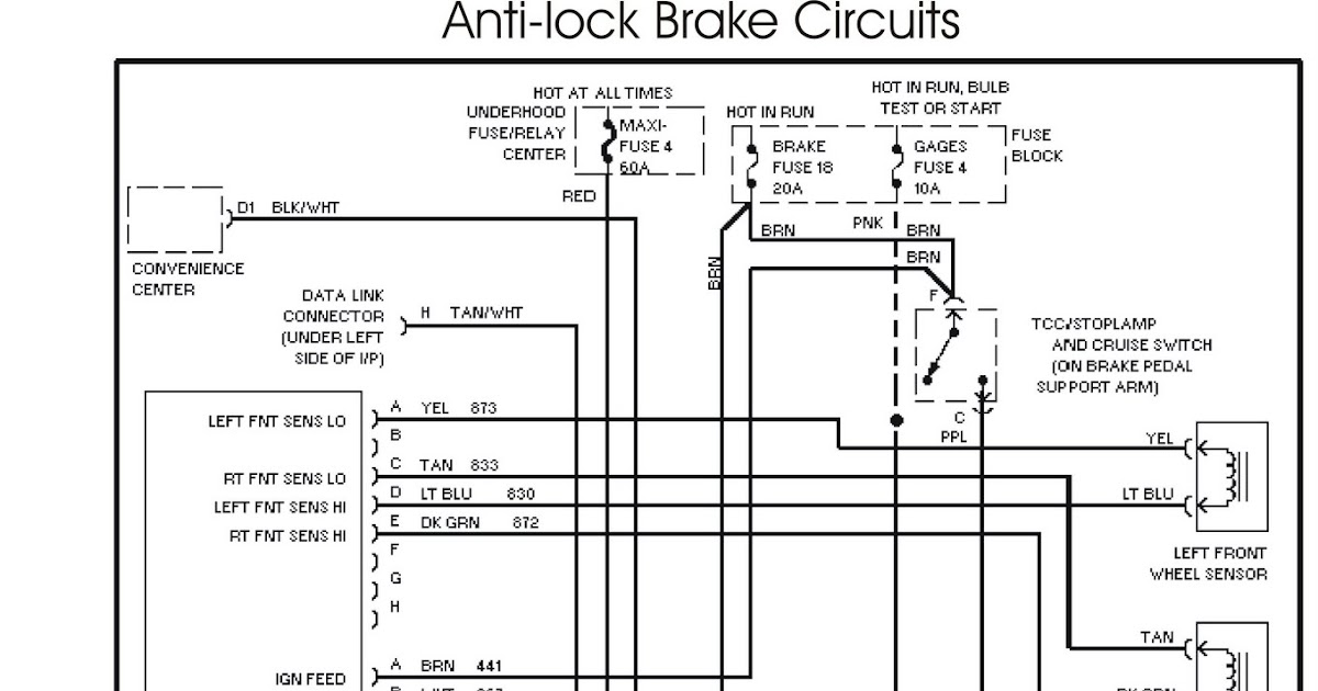 The 1995 Chevrolet Tahoe Wiring Schematic Antilock Brake