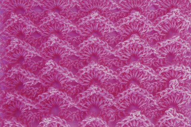 5-Crochet Imagen Puntada abanico a relieve a crochet y ganchillo por Majovel Crochet