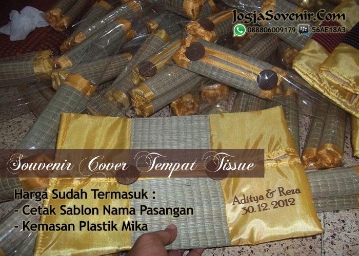 Contoh souvenir pernikahan tempat tissue
