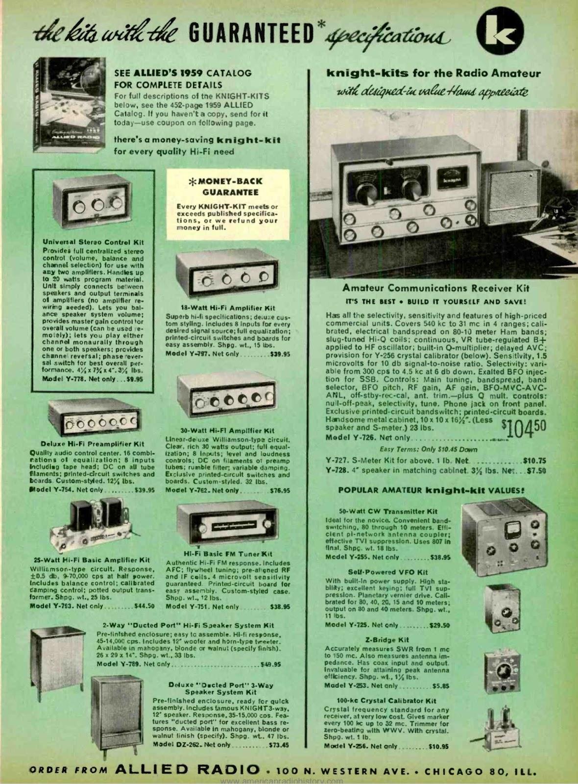 retro vintage modern hi-fi: Knight Kits Advert