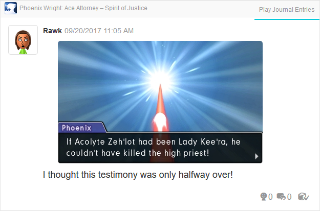 Phoenix Wright Ace Attorney Spirit of Justice Rite of Turnabout thought route
