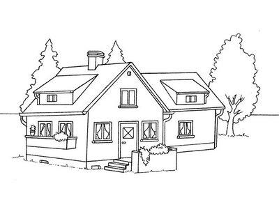 Diversos tipos de moradias desenhos para colorir for Casa disegno