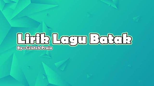 Lirik Lagu Batak Molo Dungkon Saut Hita Mardongan  Haholongan Hu Do Ho By Rita Butar-Butar