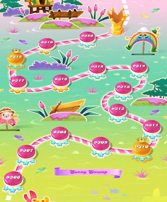 Candy Crush Saga level 9306-9320