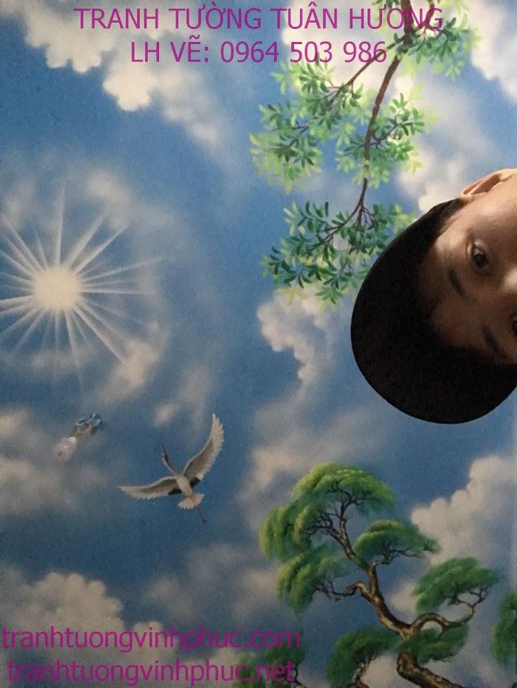 vẽ trần mây 3d tại xuân hòa phúc yên