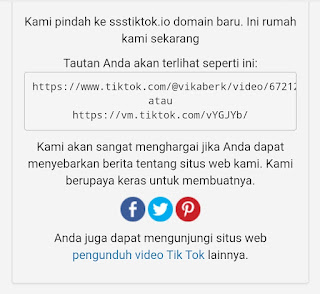 Hari ini anda akan bahas mengenai sebuah situs yang dapat dipakai untuk download video tik ssstiktok .com Sekarang Redirect Ke ssstiktok.io Tempat Download Video TikTok Tanpa Watermark