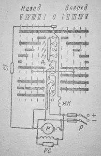 Схема контроллерного управления электродвигателем параллельного возбуждения
