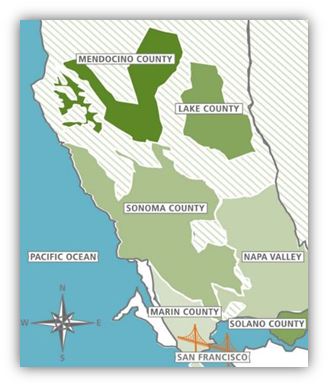 Bonterra grape sourcing regions