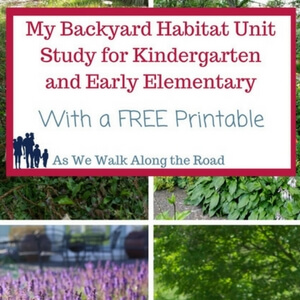 Backyard Habitat Unit Study