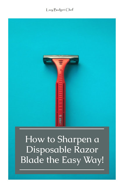 how to sharpen a disposable razor without denim