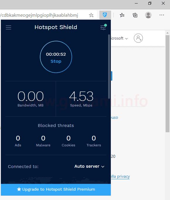Estensione Hotspot Shield Free VPN Proxy - Unlimited VPN per Microsoft Edge