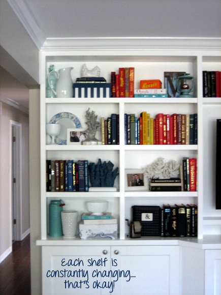 Once you have your bookshelf styled the way you want it, feel free to mix it up sometimes and add new books and accessories!