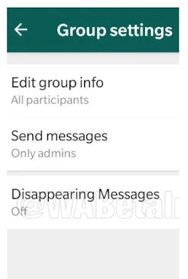 Whatsapp disappearing message feature