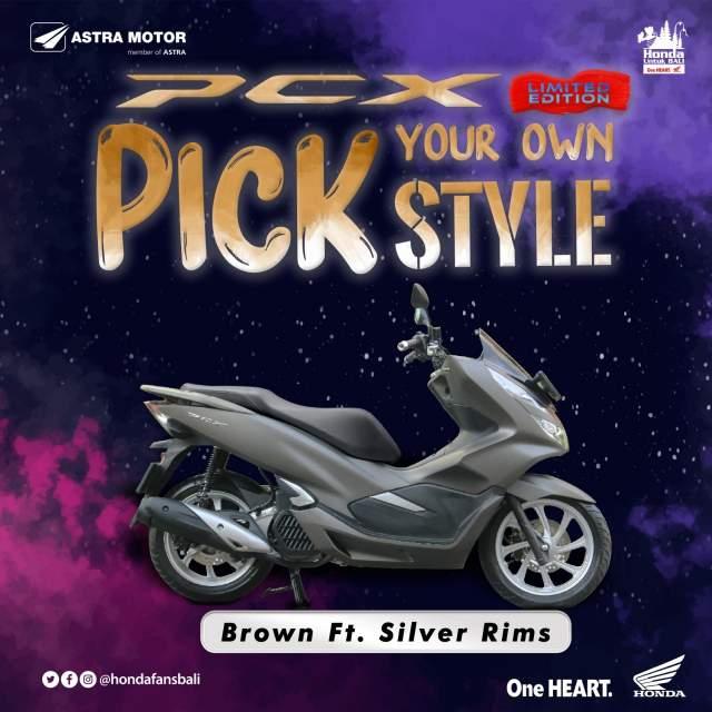 Warna Baru Velg PCX Brown dengan Silver Rims