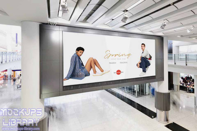 shopping mall digital ad mockup