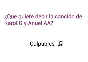 Significado de la canción Culpables Karol G Anuel AA.